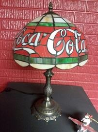 Coca Cola Tiffany Inspired Faux Stained Glass Lamp!