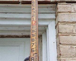 Vintage Wooden Warren Knight Transit Survey Grade Level Rod 12 ft.