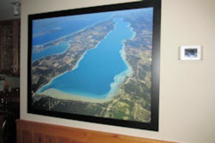 framed aerial of torch lake
