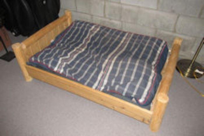 log dog bed