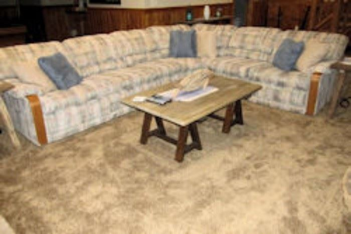 plaid sectional
