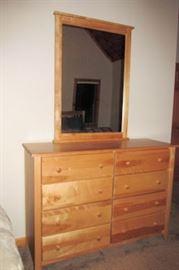 x 8 drawer dresser mirror