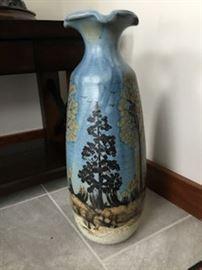 x blue vase