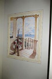 x framed cottage porch