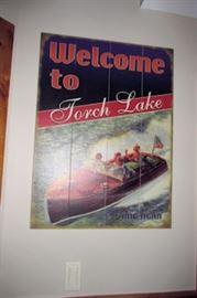 x framed torch lake poster