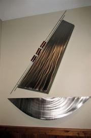 x metal wall sculpture