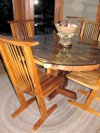 x table cantalevered chairs