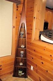 x triangular display shelf