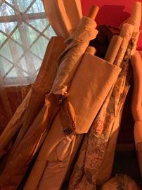 Multiple rolls of upholstery