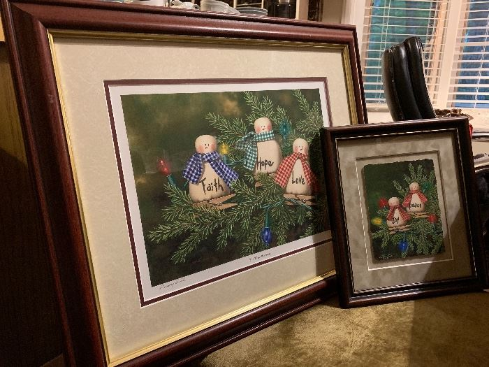 Dempsey Essick prints selling as set, both signed