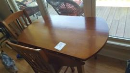 Solid wood kitchen table 2 chairs