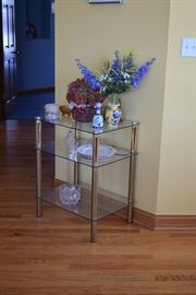 Glass Side Table, Home Decor