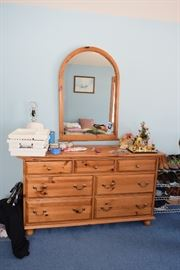 Dresser, Mirror, Toiletries