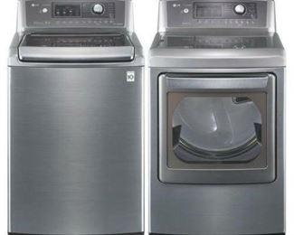 LG TrueSteam top-loading washer dryer set