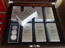 Collection of silver coins