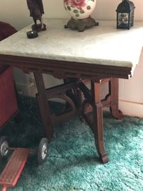 19th Century Table with Marble Top