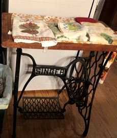 Antique Singer Table
