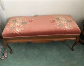 Large needlepoint french stool