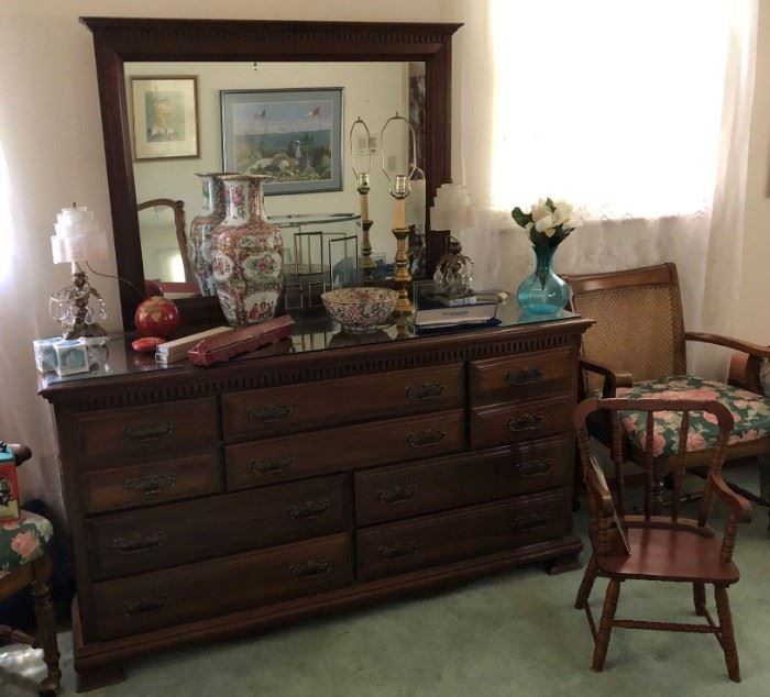 One of two vintage bedroom sets