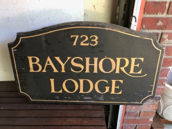 Original Bayshore Lodge double sided sign