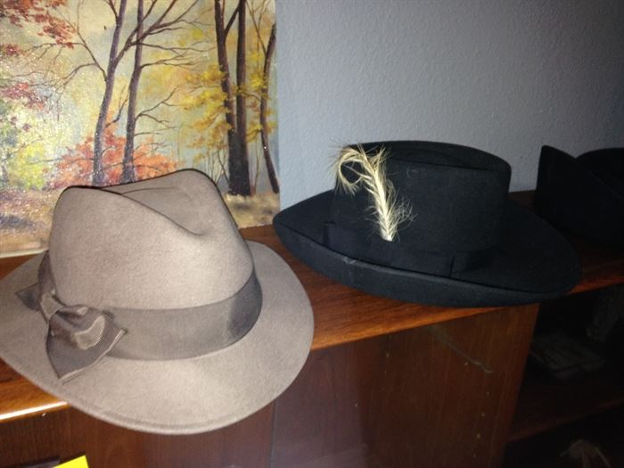 classic women's hats, 1950s,
