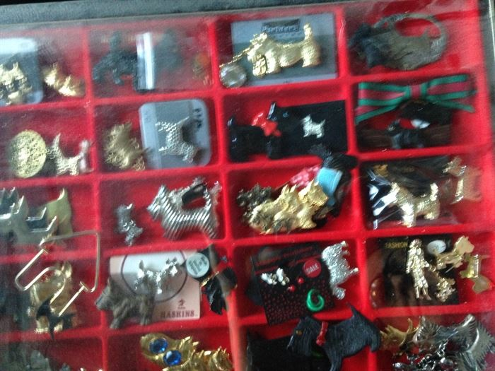loads of Scottie dog jewelry.  If you like West Highland terriers (white) or Scottish Terriers (black), this is the place