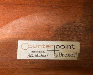 Counter Point Designed by John Van Koert  Drexel Desk and chair