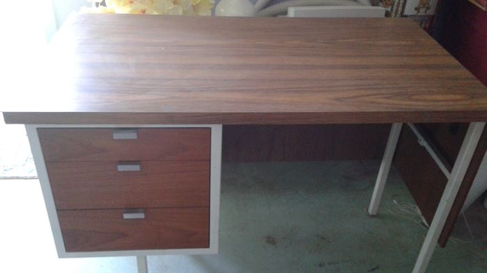 Wood and metal desk