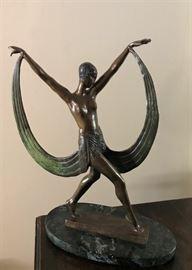 Deco Bronze Statue, in the manner of Erte