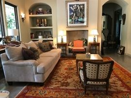 Living Room Furniture, with 2 Huge Vintage Oriental Rugs, Side Tables, Sofa, Coffee Table.....much more!
