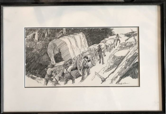 Charles Shaw work in pencil, signed