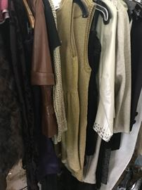 Racks and Racks of Men's and Women's Designer Clothes in fine condition....Louis Vuitton, Ralph Lauren, Gucci, Polo etc.