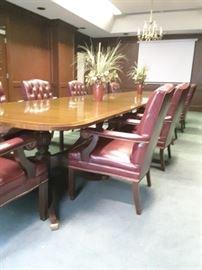 Beautiful mahogany conference table, 20 foot length!