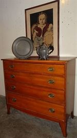 Period Cherry Hepplewhite Chest Of Drawers