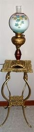 Brass Stand Table, Banquet Lamp