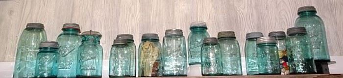 Early Glass Canning Jars Incl. Dated