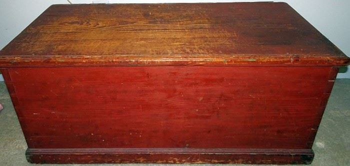 Pine Blanket Box With Till