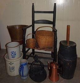 Country Primitives, Stoneware, Woodenware, Copper, Brass, Cast Iron Boot Scraper