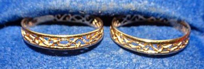 18K Filigree Rings