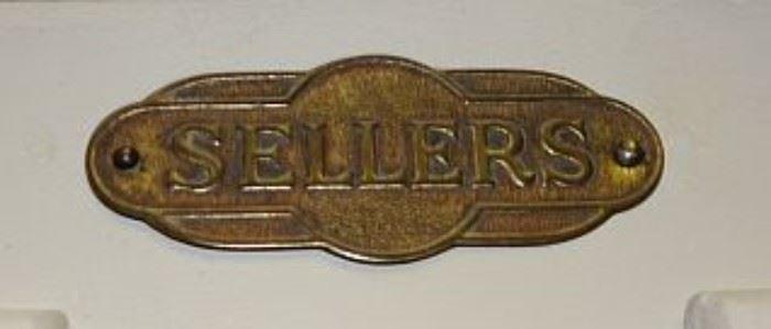 Original Sellers Brass Label