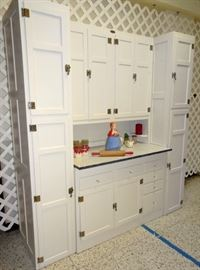 Sellers Bakers Cabinet With Side Cupboards