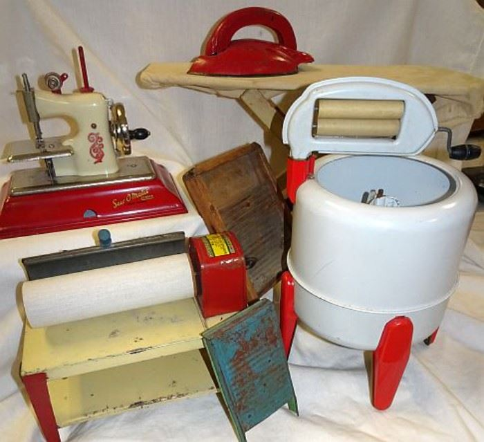 Toy Washer, Ironer, Sewing Machine