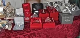 Waterford & Lenox Glass Ornaments