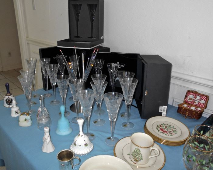 And More Waterford Crystal Flutes