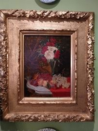 Antique artist signed oil painting, with exquisite gold gilt frame.                                                                                        Thankfully, none of the art in this house is from a Chinese conveyor belt.