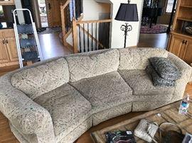 Large rounded shape sofa.