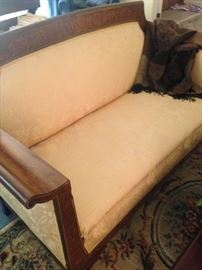 Matching antique love seat