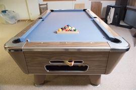Genuine Slate Playfield Pool Table with Ball Return 3.5' x 7'
