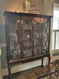 Antique restored elegant china cabinet