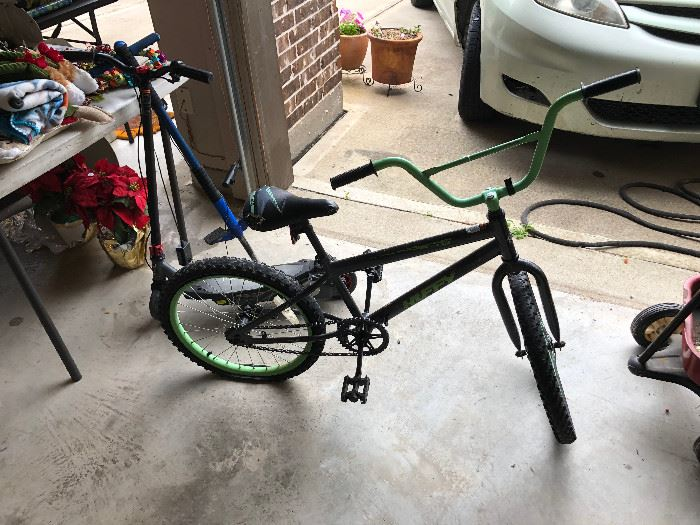 electric scooter and child bicyle